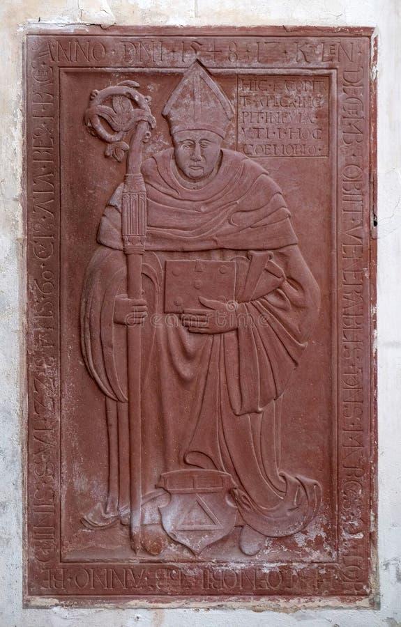 Epitaph in der Cistercian Abtei von Bronbach, Deutschland stockfoto