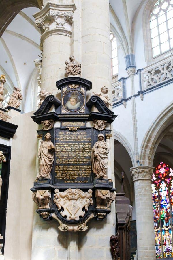 Epitaph in der Kirche von St Andrew, Antwerpen lizenzfreie stockbilder