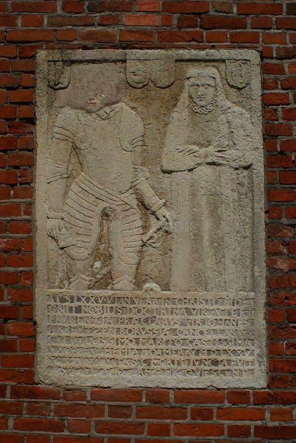 Epitaph in der Konigsberg-Kathedrale lizenzfreies stockbild