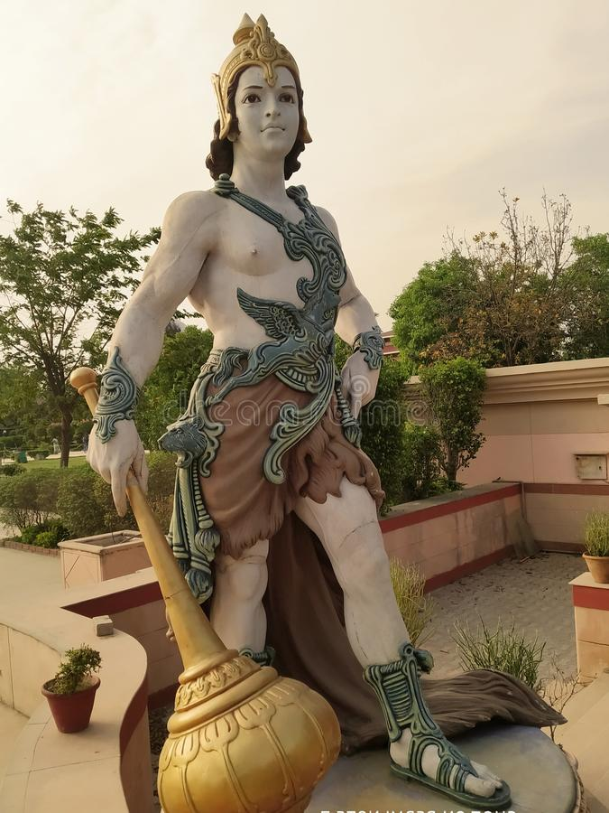 Epitome of beautiful artwork. Statue, temple stock photography