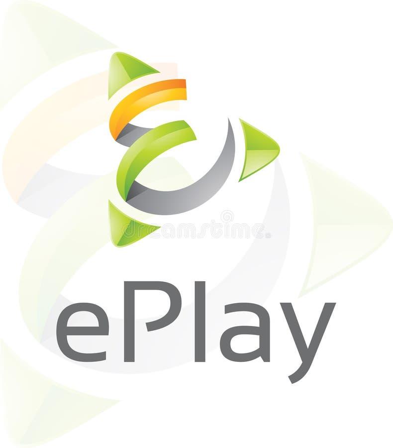 EPlay -商标模板 免版税库存照片