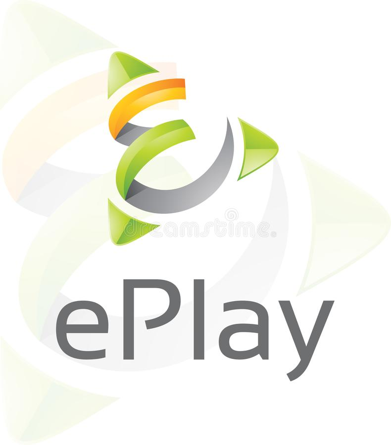 EPlay - molde do logotipo foto de stock royalty free
