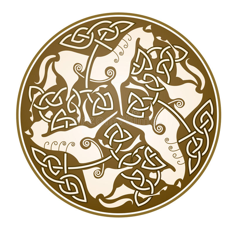 Epona celtic symbol stock illustration