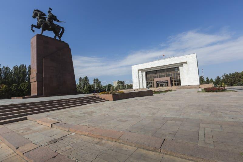Epopeya del monumento de Manas en cuadrado del ala-Demasiado bishkek imágenes de archivo libres de regalías