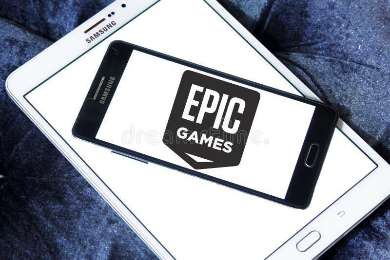 Epos spelar företagslogo royaltyfria foton