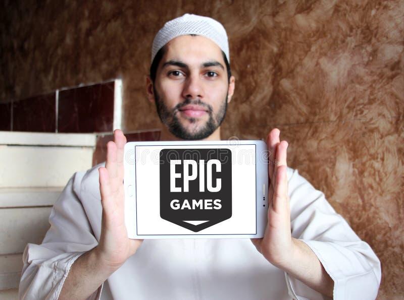 Epos spelar företagslogo arkivbilder