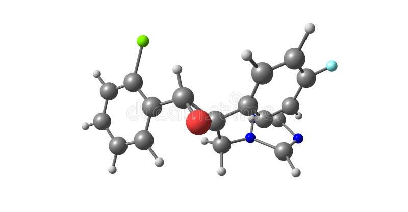 Epoxiconazole molekylär struktur som isoleras på vit stock illustrationer