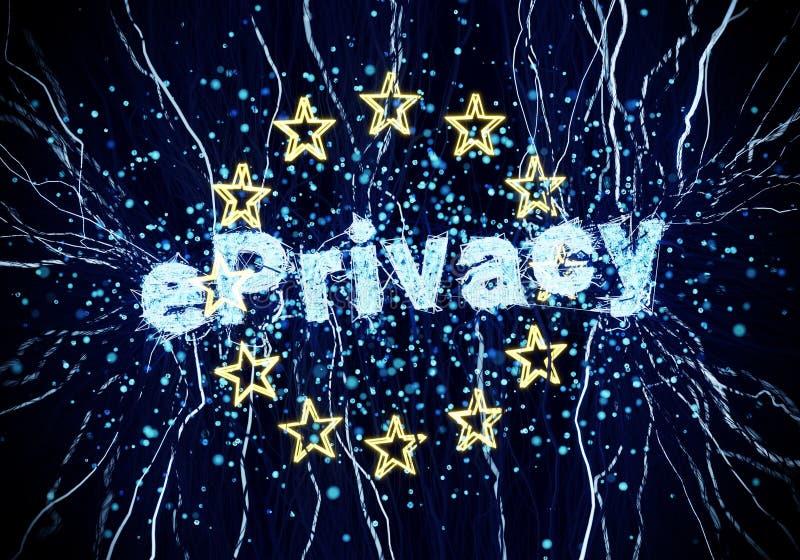 EPrivacy欧洲欧盟 库存照片