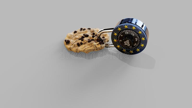 EPrivacy DSGVO Europe Cookie Shadows GDPR royalty free stock photo