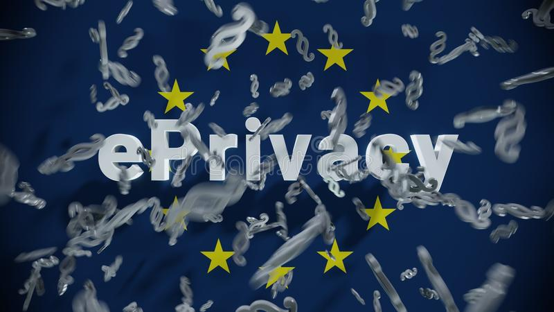 EPrivacy GDPR DSGVO Europe Law vector illustration