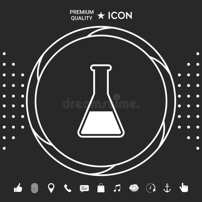 Epruwetka symbolu ikona Graficzni elementy dla twój designt ilustracja wektor