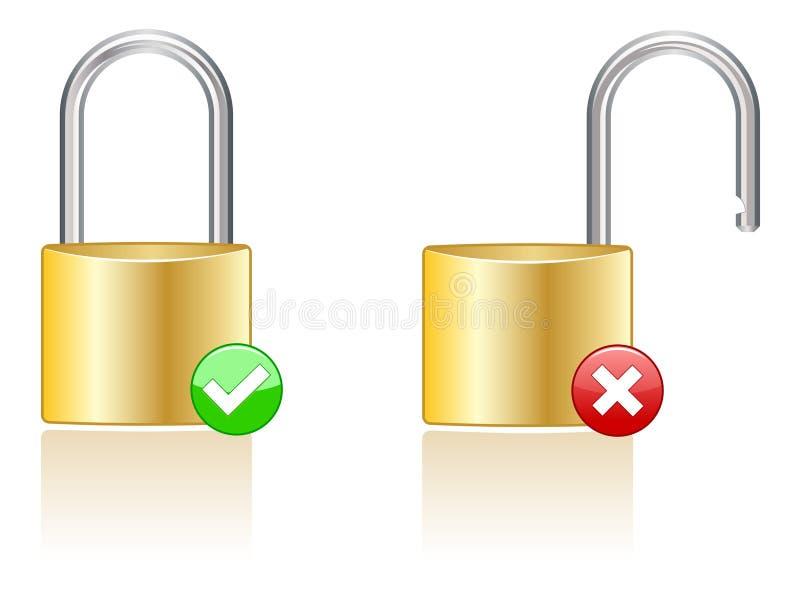 eps图标锁定 皇族释放例证
