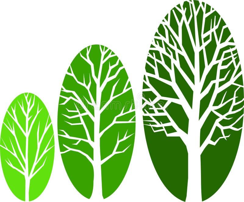 eps增长长圆形结构树 库存例证
