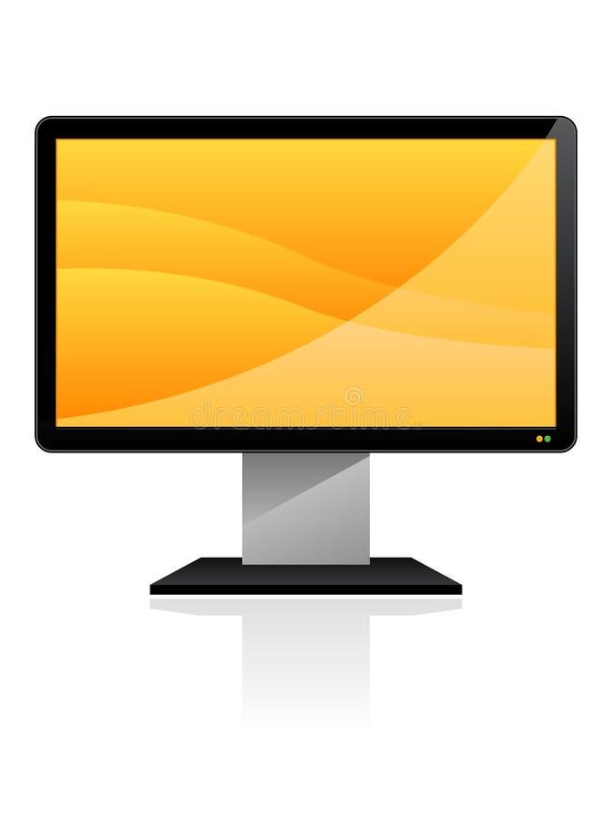 eps平面的显示器屏幕 库存例证