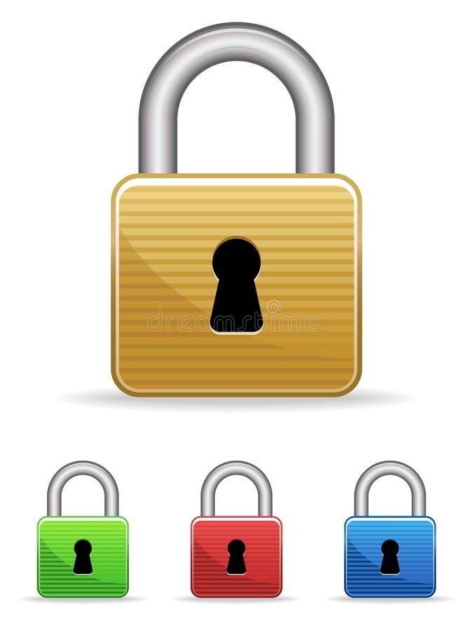 eps挂锁集 库存例证