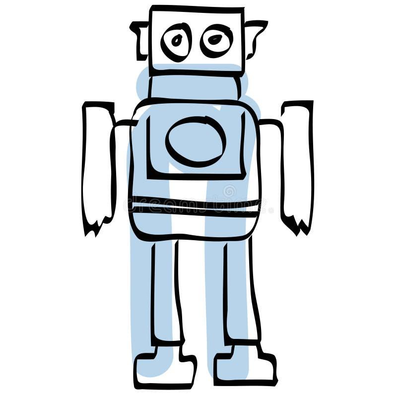 eps文件机器人向量 向量例证