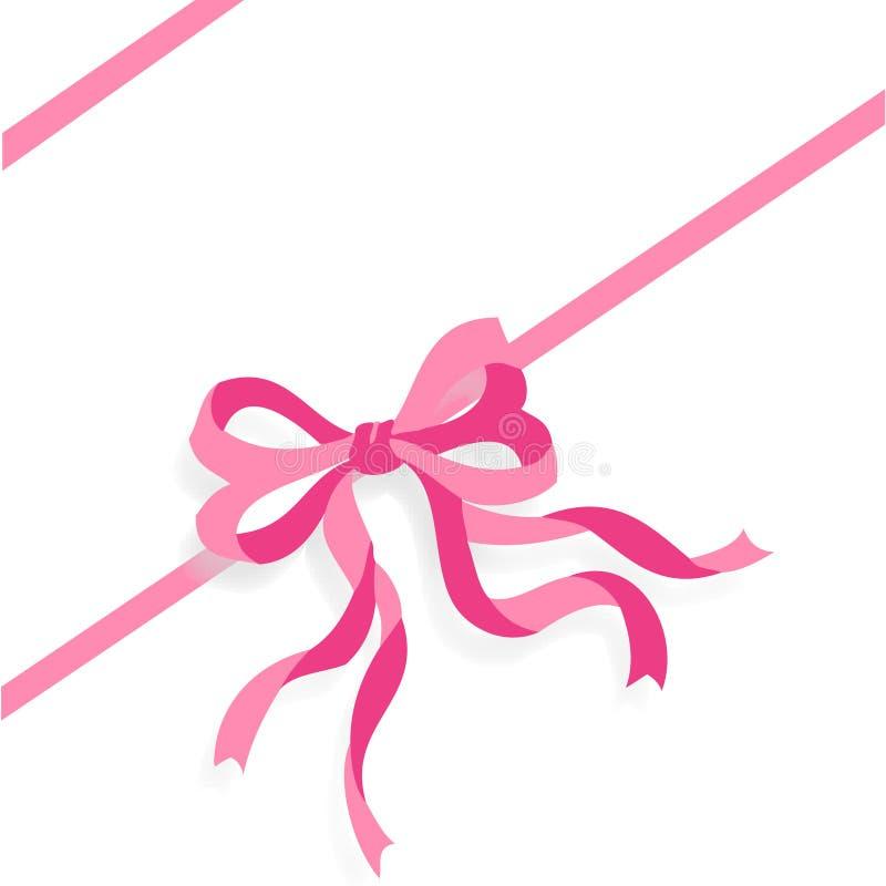 eps文件粉红色丝带 皇族释放例证