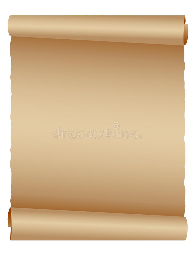 eps羊皮纸滚动 皇族释放例证