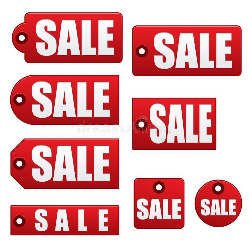 eps销售额标签 向量例证