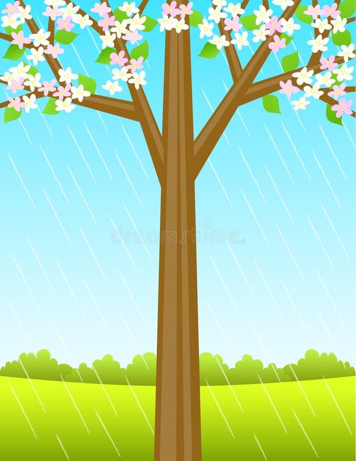 eps ανασκόπησης δέντρο άνοιξη διανυσματική απεικόνιση