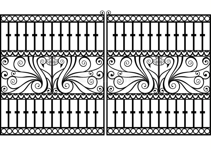 eps διάνυσμα σιδήρου πυλών φ&rh ελεύθερη απεικόνιση δικαιώματος
