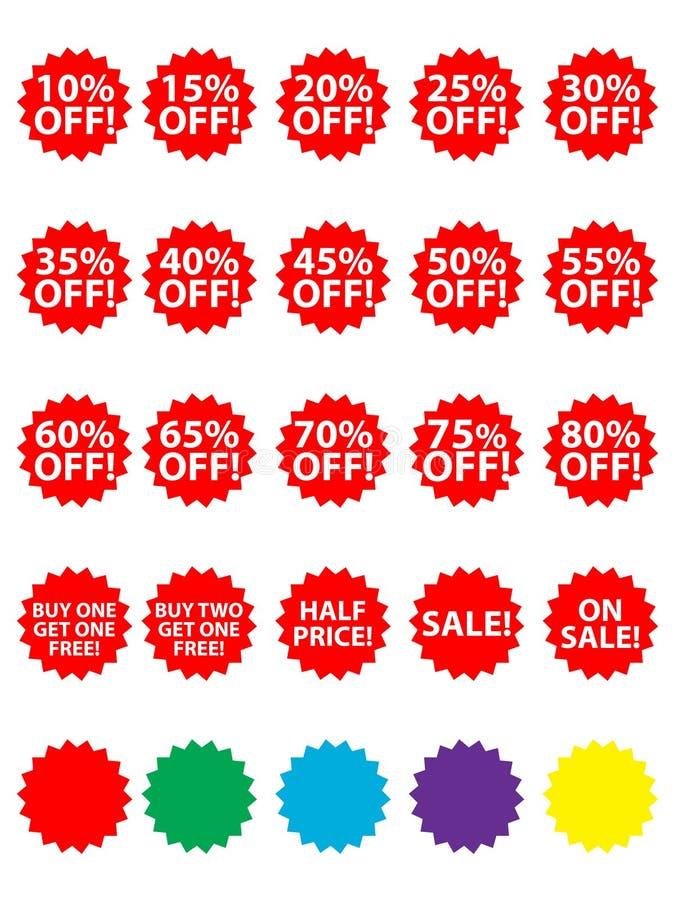 eps ετικέττες πώλησης διανυσματική απεικόνιση