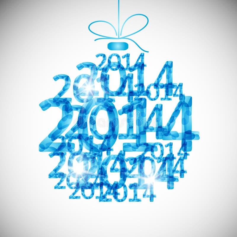 Eps10, ευτυχής νέος Χριστουγέννων σφαιρών παιχνιδιών Χαρούμενα Χριστούγεννας ελεύθερη απεικόνιση δικαιώματος