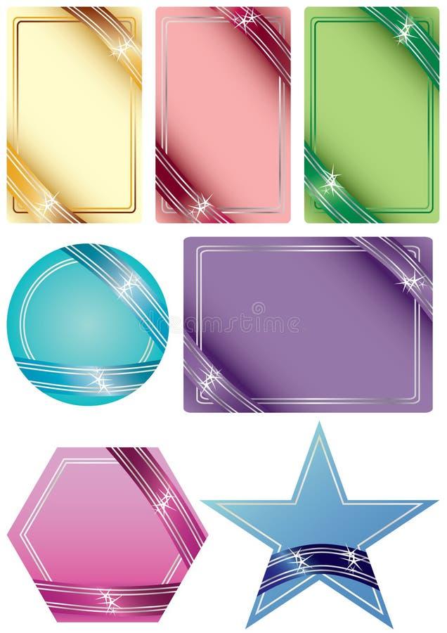 eps καρτών μορφή κορδελλών διανυσματική απεικόνιση
