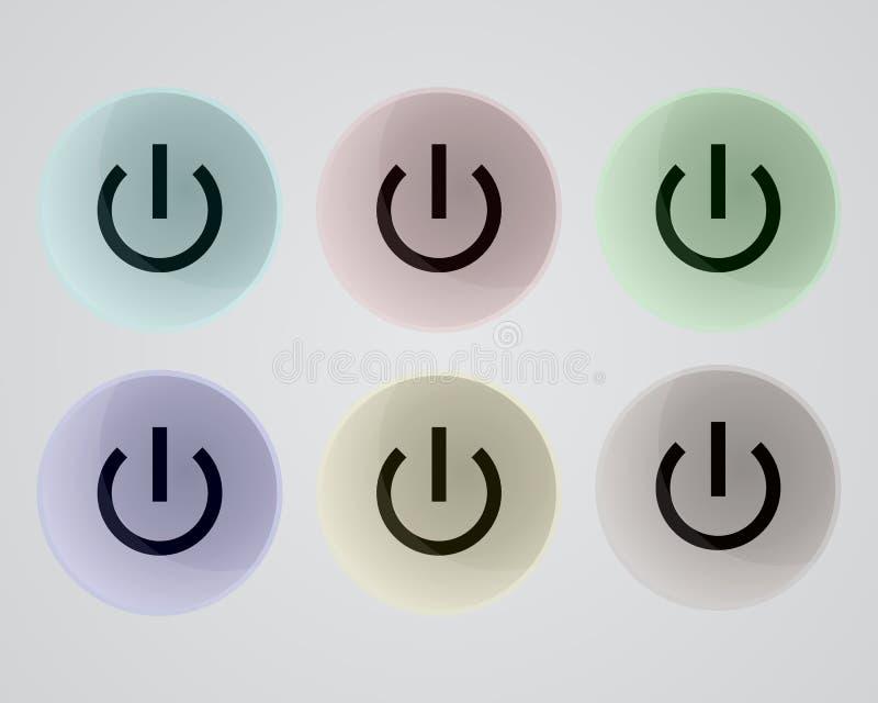 eps 10 κουμπιών διάνυσμα ισχύος απεικόνισης μορφής ελεύθερη απεικόνιση δικαιώματος