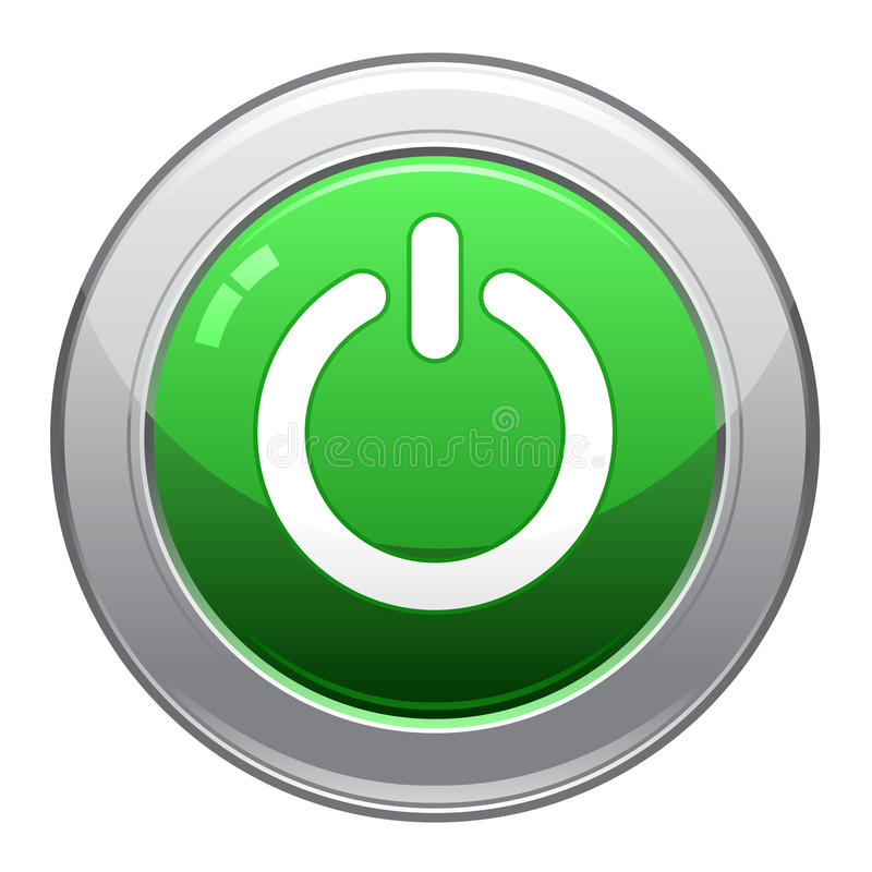 eps κουμπιών ισχύς εικονιδί&ome απεικόνιση αποθεμάτων