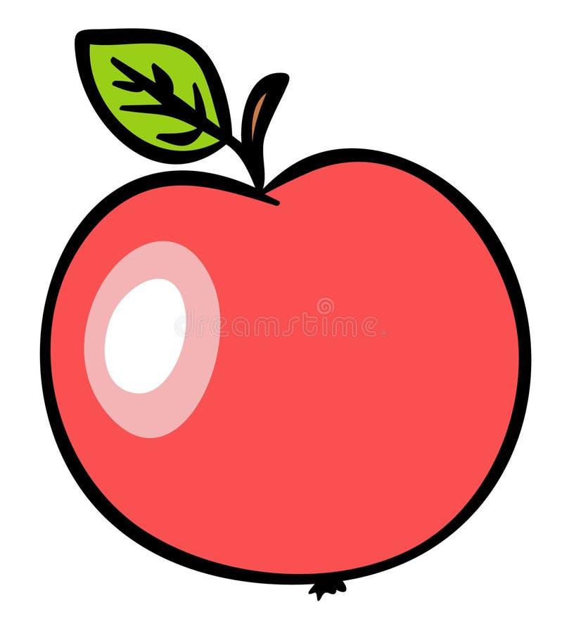 eps μήλων κόκκινο απεικόνιση&si διανυσματική απεικόνιση