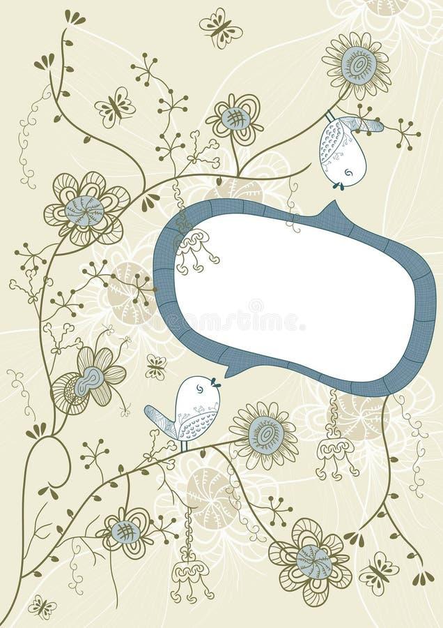 eps πουλιών ομιλία λουλο&upsi διανυσματική απεικόνιση