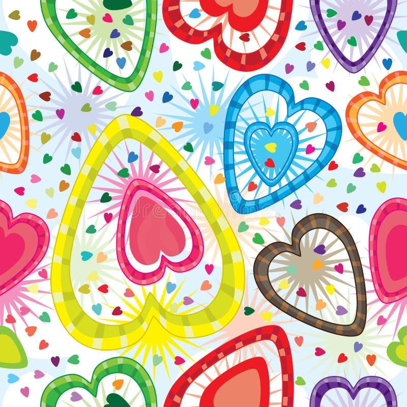 eps πρότυπο αγάπης άνευ ραφής πολύ διανυσματική απεικόνιση