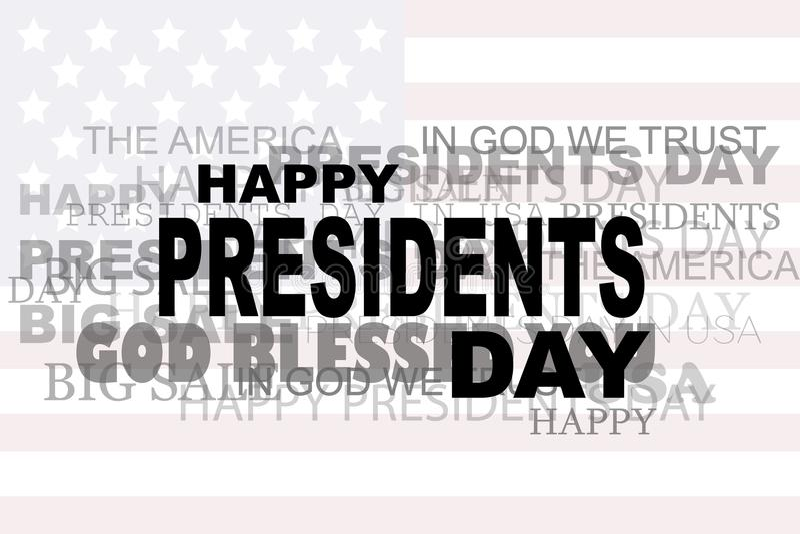 Eps 10 ΠΏΛΗΣΗΣ λέξεων Προέδρων Day Flag ΗΠΑ εικονίδιο μεγάλη απεικόνιση αποθεμάτων απεικόνιση αποθεμάτων