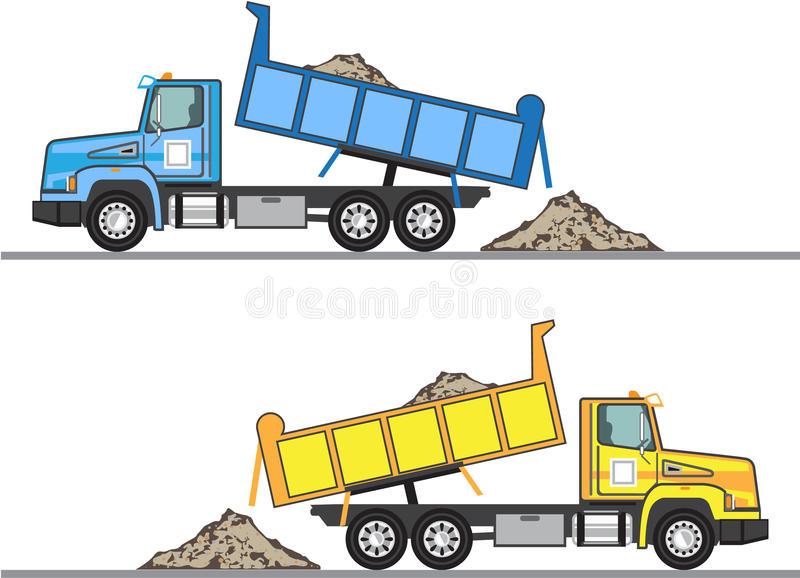 Eps φορτηγών απορρίψεων διανυσματικό αρχείο απεικόνιση αποθεμάτων