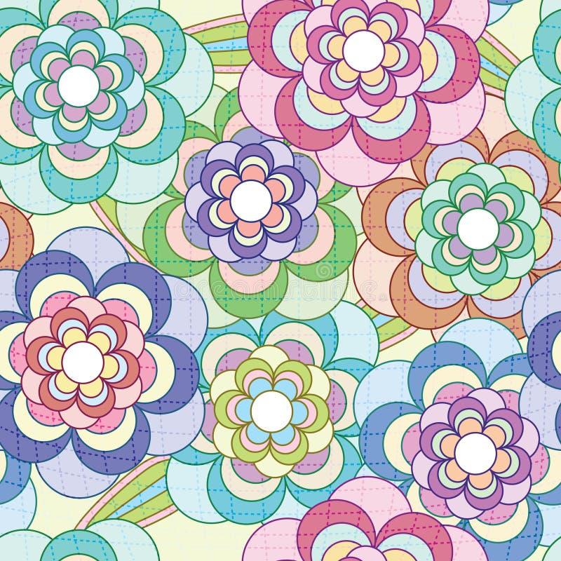 eps цветет сетчатая картина иллюстрация вектора