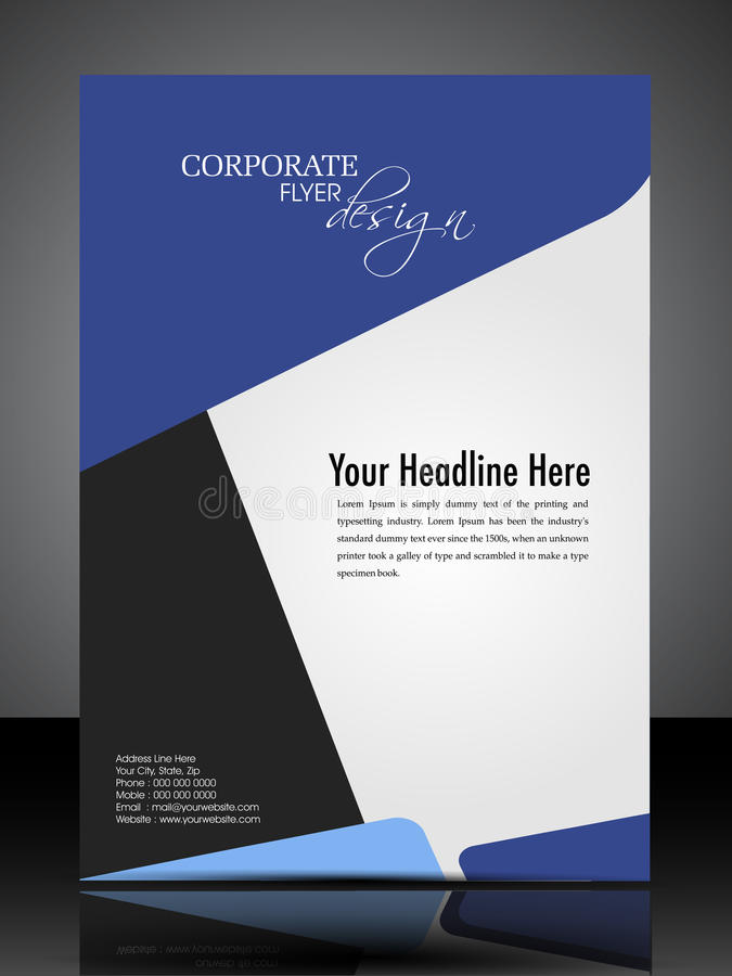 Eps  Professional Corporate Flyer Design Stock Vector