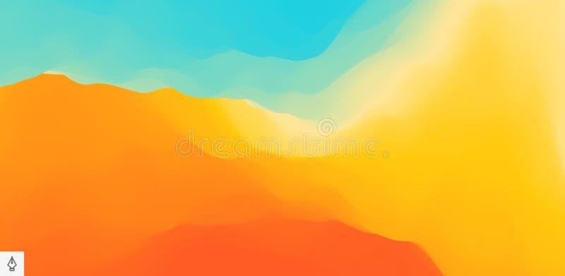 Абстрактная предпосылка с динамическим воздействием Иллюстрация вектора движения Ультрамодные градиенты o иллюстрация штока