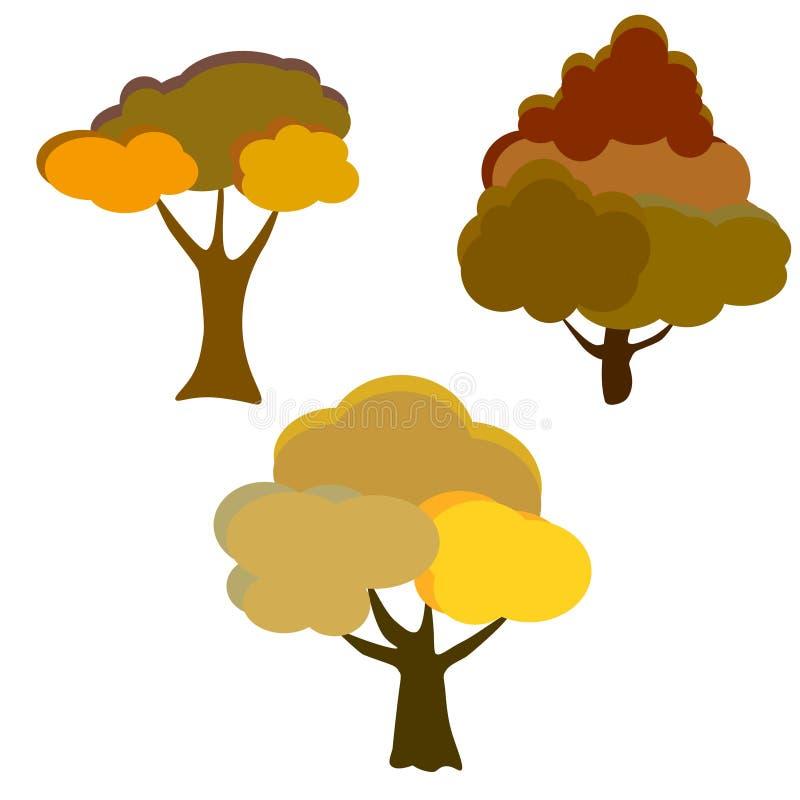 o Υπόβαθρο δέντρων φθινοπώρου ελεύθερη απεικόνιση δικαιώματος