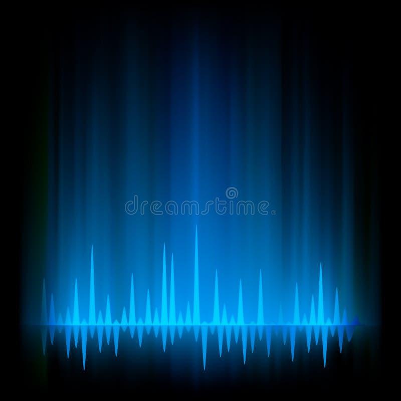 eps 8 αφηρημένο borealis αυγής φως πυ&r διανυσματική απεικόνιση