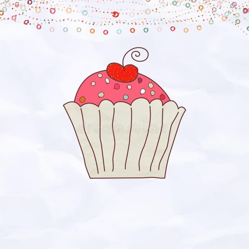 Download Eps 8 καρτών Cupcake αναδρομικός βα&lambda Διανυσματική απεικόνιση - εικονογραφία από κέικ, μπαρεττών: 22788984