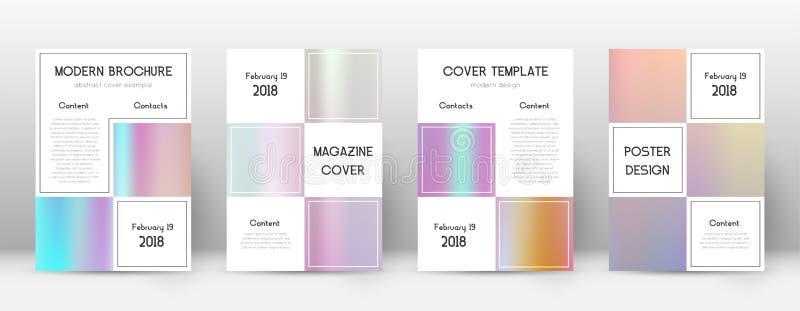 EPS 10 Affär som förbluffar mallen för Brochu stock illustrationer