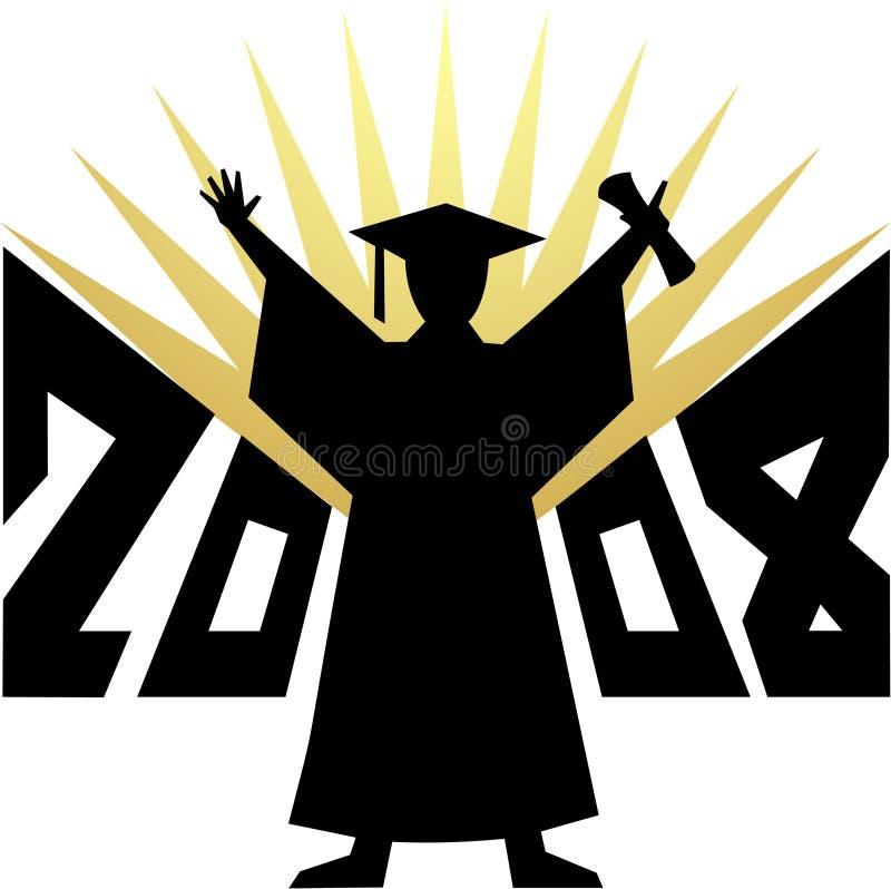 eps-avläggande av examen 2008 royaltyfri illustrationer