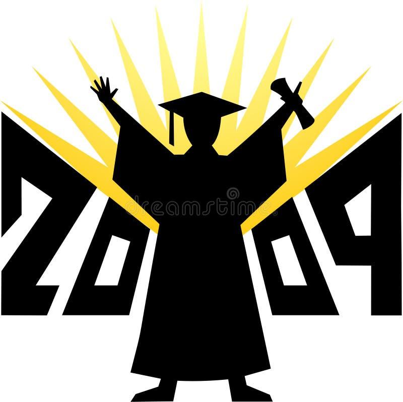 eps-avläggande av examen 2009 royaltyfri illustrationer