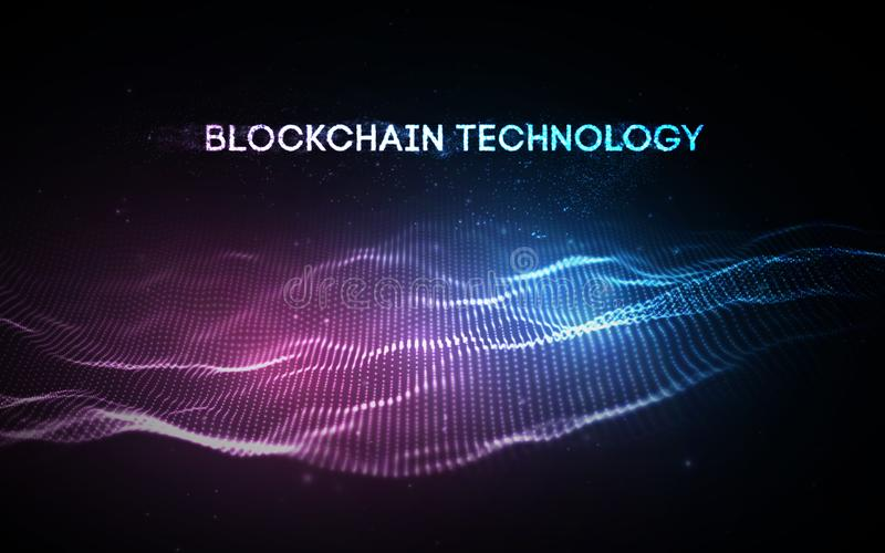 10 eps Blockchain teknologibakgrund N?tverk f?r kedja f?r Cryptocurrency fintechkvarter och programmerabegrepp Abstrakt begrepp vektor illustrationer