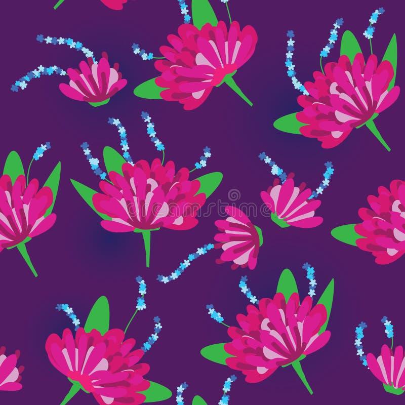 eps-blommagrupp stock illustrationer