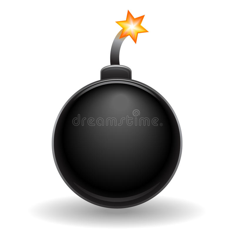 eps bombowa ikona ilustracja wektor