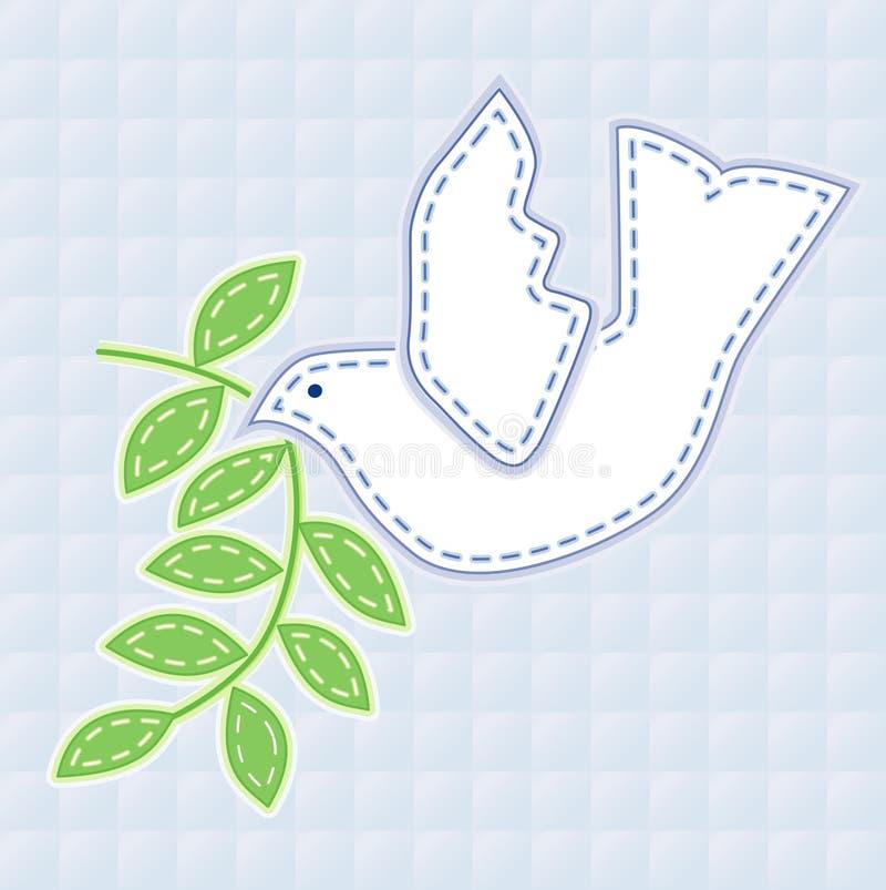 +EPS a brodé la colombe de la paix illustration stock