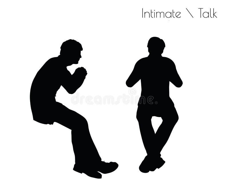 EPS 10 de illustratie van de mens in Gespreks Vertrouwelijke Bespreking stelt op witte achtergrond vector illustratie
