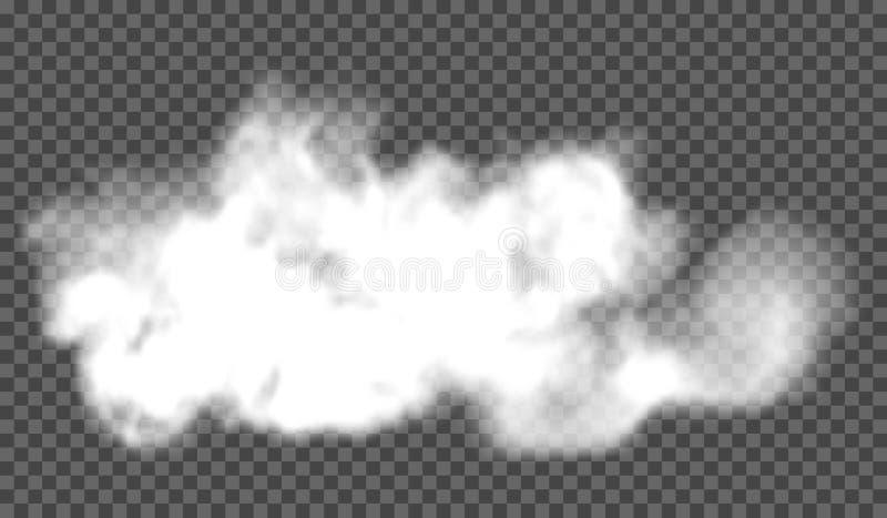 Eps 10 Efeito especial transparente da névoa ou do fumo Opacidade branca do vetor, névoa ou fundo da poluição atmosférica Ilustra ilustração stock